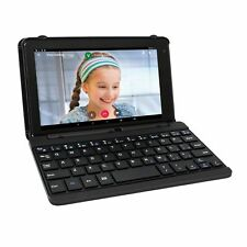 "2 in 1 Tablet Laptop 7"" Screen Quad-Core 16GB Android With Keyboard Case Black"