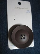 ANTIQUE/VINTAGE STREAMLINE PARTIAL CARD BIG BROWN THICK BOWL BAKE BUTTON QTY 1