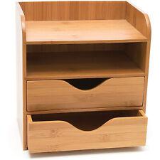 Lipper International 1804 Bamboo Wood 4 Tier Desk And Office Supply Organizer