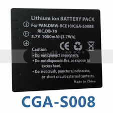 Battery PACK For DMW-BCE10E Panasonic Lumix Type VW-VBJ10 SDR-S10P1 S7S Camera
