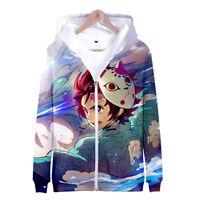 Demon Slayer: Kimetsu no Yaiba Tanjiro Tanjirou Kamado Hoodie Sweater Sweatshirt