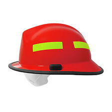 Pacific F6 Structual Fire Helmet Metro Style Red 828-0379 Retractable Eye Protec