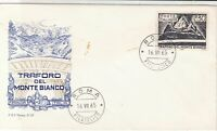 Italy 1965 Monte Bianco Mountain Roma Cancel  FDC Mountain Stamp Cover ref 22389