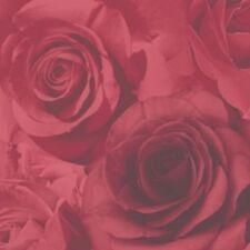 Papel Tapiz De Flor Rosa Rojo Intenso Rosa de gran característica de peso pesado moderno Glamour