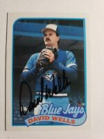 1989 Topps David Wells Auto Autograph Card Blue Jays Yankees Red Sox Signed #567
