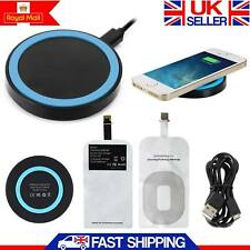 Wireless iPhone Charger Charging Pad Qi With Receiver For iPhone 6 6 plus 5S 5
