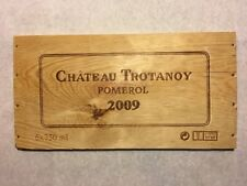 1 Rare Wine Wood Panel Chateau Trotanoy Pomerol Vintage CRATE BOX SIDE 4/18 287