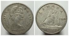 Canada 1966 Silver 10 Cents Dime Circulated