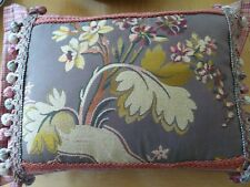 """Lovely floral Tapestry custom made throw Pillow down pillow form 16"""" x 12"""""""