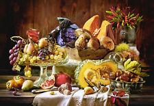 Puzzle Stilleben mit Obst, 1000 Teile, Früchte, Gemüse, Kunst, Castorland