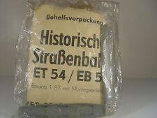 Historische Straßenbahn ET 54/ EB 54 - HO - 1:87 VEB 30010 - gebr.