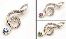 Crystal Rhinestone Unbranded Costume Brooches & Pins