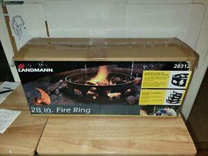 "Landmann 28"" Fire Pit Ring, Steel, Black, Wildlife, Camping, Cookouts, Backyard"