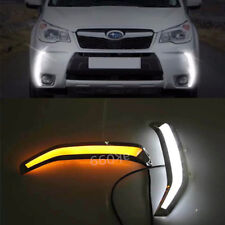 Switchback Bumper LED Daytime Running Light DRL Kit For Subaru Forester XT 13-15
