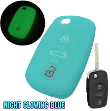 FIT FOR AUDI FLIP FOLDING REMOTE KEY FOB SILICONE COVER SKIN CASE SHELL 3 BUTTON