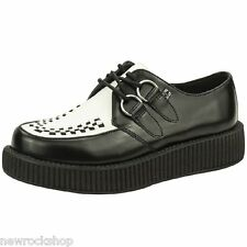 Tuk Av6807 T.U.K. New Unisex Viva Lo Sole Creepers  Black / White Leather A6807