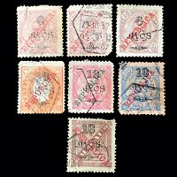 Macau 1911-1913 Overprint Republic Nice Variety Lot Surcharged Postage Stamps