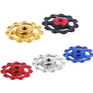 Bike Bicycle Jockey Wheel Rear Derailleur Guide Pulley Aluminium 11T - 1 Pair