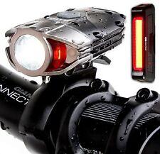 Set 1000 Lumens USB Rechargeable Front Bike Light Headlight Back Rear Red Lamp