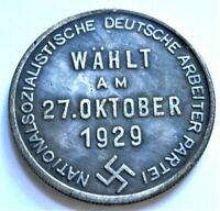 WW2 GERMAN COMMEMORATIVE COLLECTORS REICHSMARK COIN '29