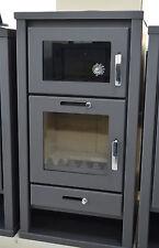 Estufa de leña Horno 11-16 KW MACIZO combustible Cocina Top Conducto humos