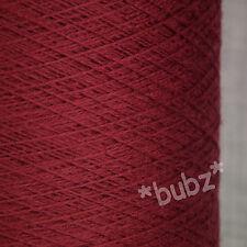 ZEGNA BARUFFA CASHWOOL PURE WOOL 2/30s OXBLOO RED LACEWEIGHT COBWEB YARN 1 2 PLY