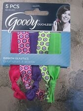 Goody Ouchless Ribbon Elastic Ponytail Holders 5 Pack Multi- Colored NEW 2221