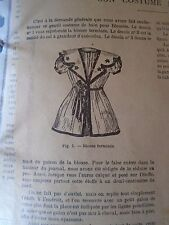 """PATRON ORIGINAL POUR LA POUPEE """" BLEUETTE """"  COSTUME DE BAIN N°21/22 JUIN  1906"""