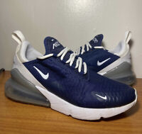 Nike Air Max 270 ID NikeID Navy Blue White Men's Size 7.5 Sneakers Shoes