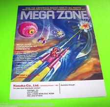 MEGA ZONE By KONAMI 1983 ORIGINAL NOS VIDEO ARCADE GAME PROMO SALES FLYER