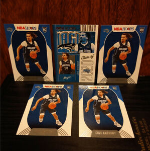 Cole Anthony 5 Card Lot • Rookie X 4 + Class Of 2020 - Hoops 2020-21