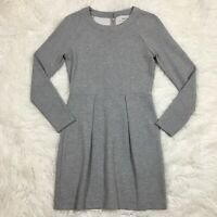 MADEWELL Womens Dress Small Gray Long Sleeve Pleat Stretch