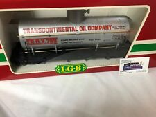 G SCALE  LGB  Transcontinental Oil Single Dome Tank Car  4080 Y -- NEW