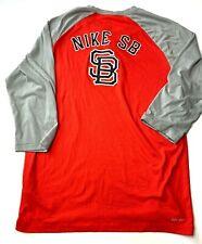 Nike Sb Dri Fit Baseball Mid Sleeve Shirt - Size L *Euc*