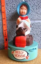 HOLLY HOBBIE transistor AM radio rag-doll 1970s bedside statue Vanity Fair