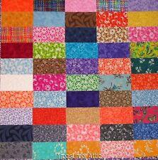 "200+ 2""X 4"" Quilting Fabric Squares Rectangle Blocks Bricks 50 diff Fabrics Lot"