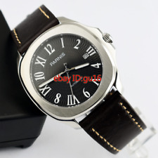 Parnis 40mm Sapphire glass Black dial Miyota 821A automatic mens watch 2255