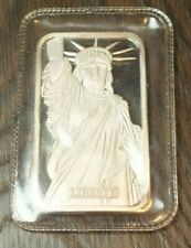Rare 1982 JM MTB 1oz Liberty Silver Art Bar .999 Sealed Johnson Matthey C17