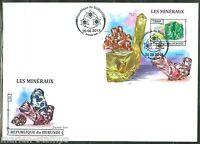 BURUNDI  2013 MINERALS  SOUVENIR SHEET  FIRST DAY COVER