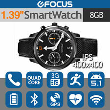 Leather Band Smart Watches with Bluetooth Enabled