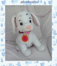 Peluche Doudou Chien Assis Blanc 102  Dalmatiens Collier Rose  Disney Tomy