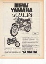 Yamaha 125 Twin, 350 Sports Twin classic period motorcycle advert 1969