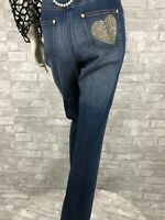 New St. John Runway Auth Blue 98% Cotton Pants Jeans 10 US 46 IT M
