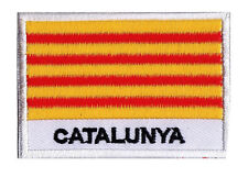 Patch brodé ecusson à coudre patche CATALOGNE Catalunya 70 x 45 mm