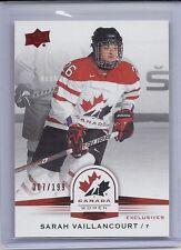 2014 UPPER DECK TEAM CANADA WOMEN SARAH VAILLANCOURT RED EXCLUSIVES /199 67