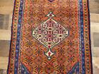 "2'4""x9' Rare Authentic Semi Antique Handmade wool Bidjar Oriental rug runner"