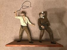 "Indiana Jones and Henry Jones 13"" Statues from The Last Crusade Pro Built"