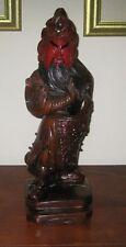 Oriental Asian Samurai Warrior Wood Carved Statue