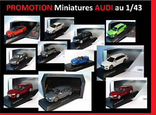 DESTOCKAGE miniatures AUDI au 1/43 A1 A4 A5 A6 A7 Q2 Q3 Q5 Q7 Q8 TT R8 RS Avant