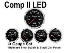 Comp Ii 2 Sport Led 5 Gauge Auto Gauge Meters Set Black With Stainless Steel Usa